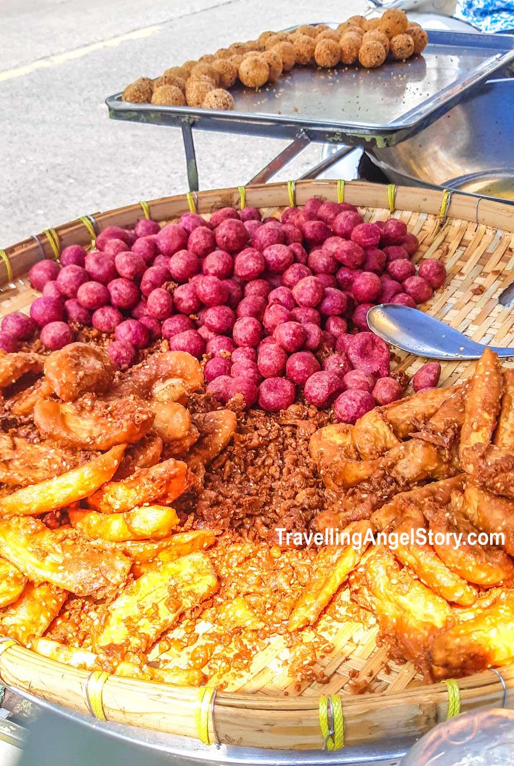 Thai snack - Fried Sweet Potato